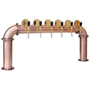"BDT-BR6V Beverage dispense tower ""Bridge"" for 6pcs of beverage taps"
