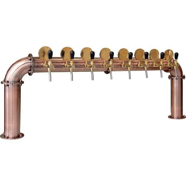 BDT-BR8V Beverage dispense tower Bridge 8-valves : Copper design with protective