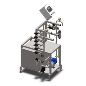 KCA-20D : Machine for the automatic rinsing and filling of kegs 8-20 kegs/hour (with double tank for chemical solutions)
