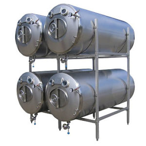 MBTHI-400 Cylindrical pressure tank for the secondary fermentation of beer or cider (maturation, carbonization), horizontal, insulated, 400/436 liters, 3.0bar