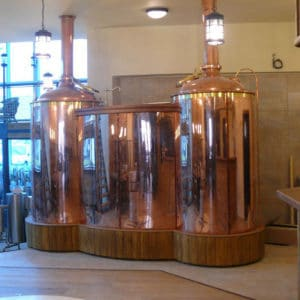 Brewery BREWORX CLASSIC BSB-301-300L with the copper wort brew machine