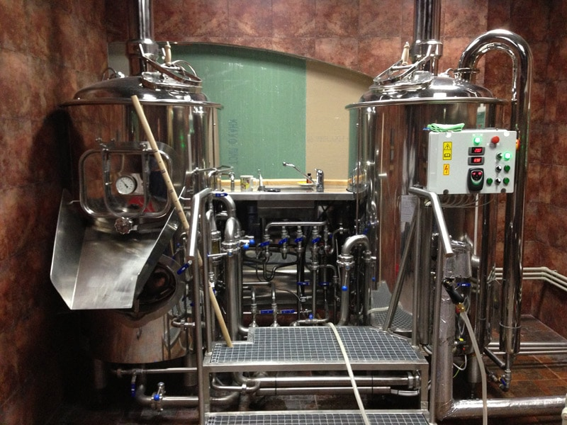 MODULO CLASSIC 250 wort brew machine - the brewhouse installation photo
