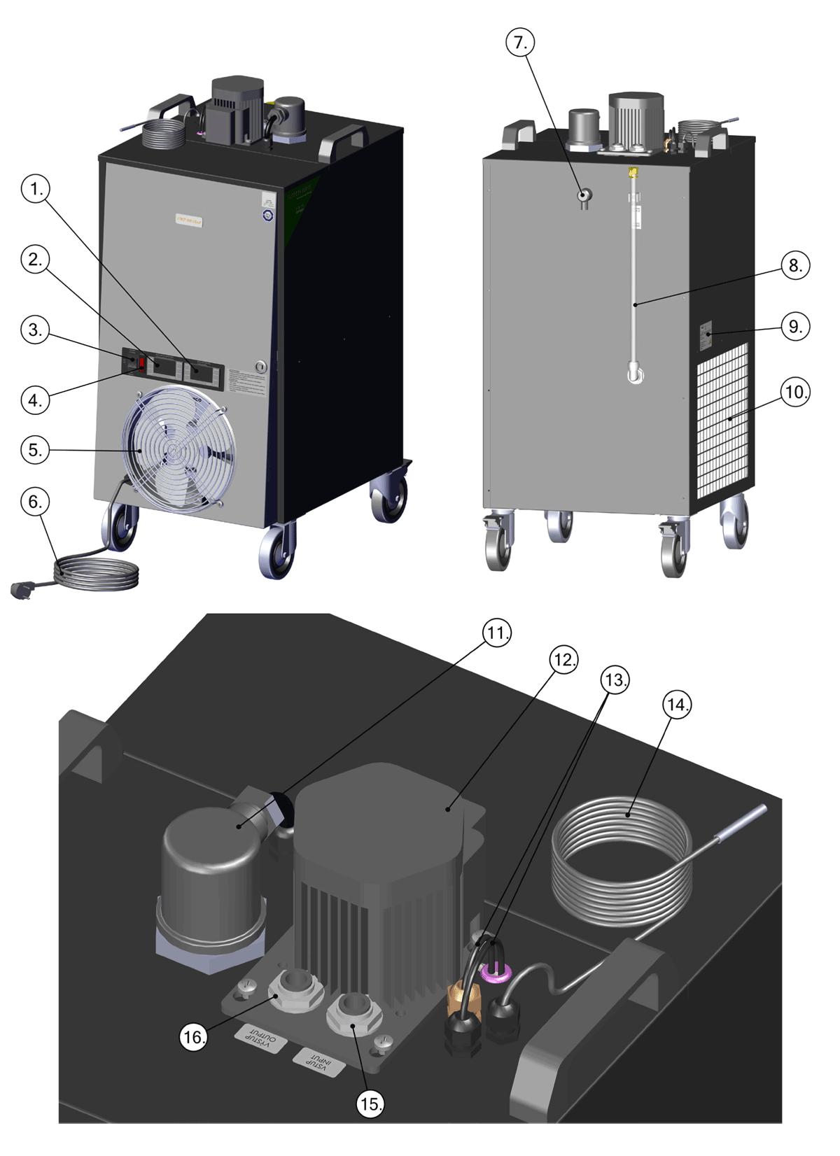 CLC-1P1200 cooler-heater description