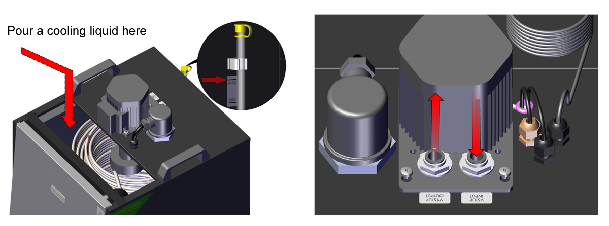 CLC-1P1200 cooler-heater : Upper side description
