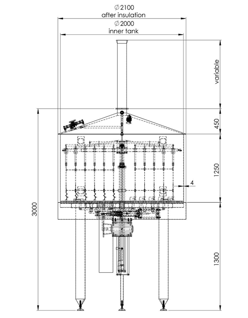 Oppidum 2000 Filtering tank
