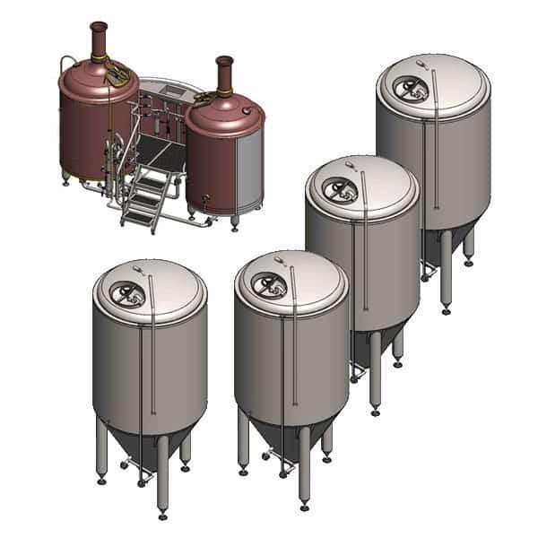 BREWORX LITE-ME 602 breweries with 1200 L fermentors