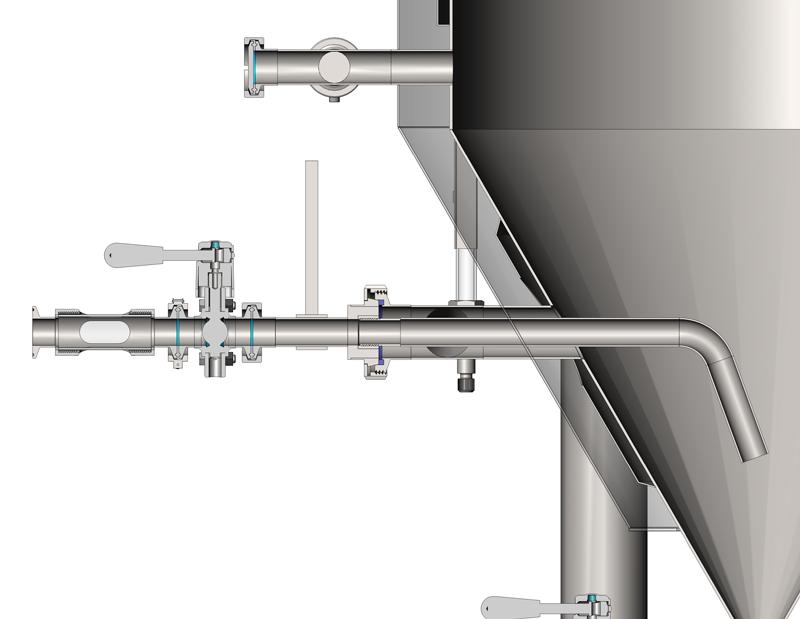 ARV 01 scheme 01 - ARV-01 Rotable racking arm - beverage draining valve for CCT fermenters - rov