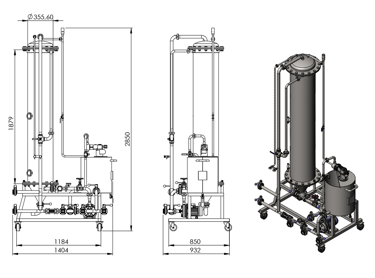 DAF3 kieselguhr filter drawings