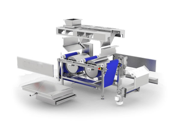 FBP-600-MG : Fruit belt press 600 kg/hour - inside view