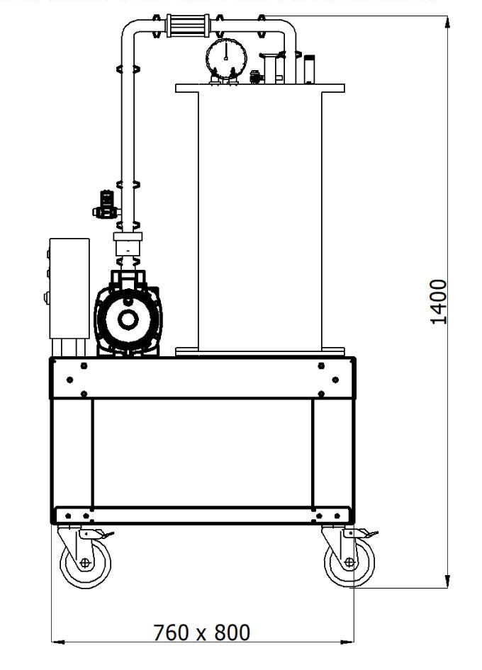 FBC 1000R Flow through beverage carboniser dimensions - FBC-1000R Flow-through beverage carboniser 1000L/hr - csc, oce, oxe, coe