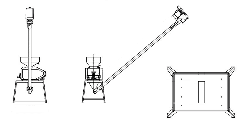Reducer between a screw conveyor and a malt crusher