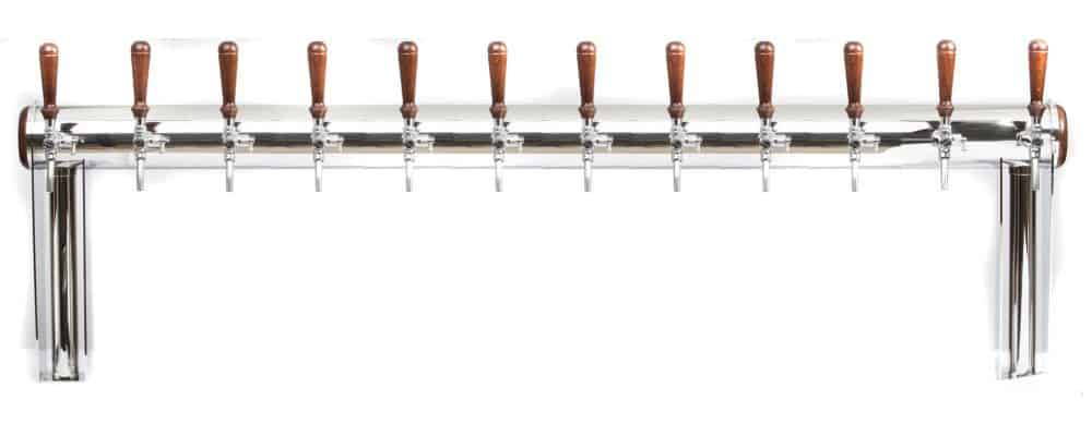 """BDT-GT12A : Beverage dispense tower """"Beer Gate"""" with 12pcs of the Aurora beverage taps"""