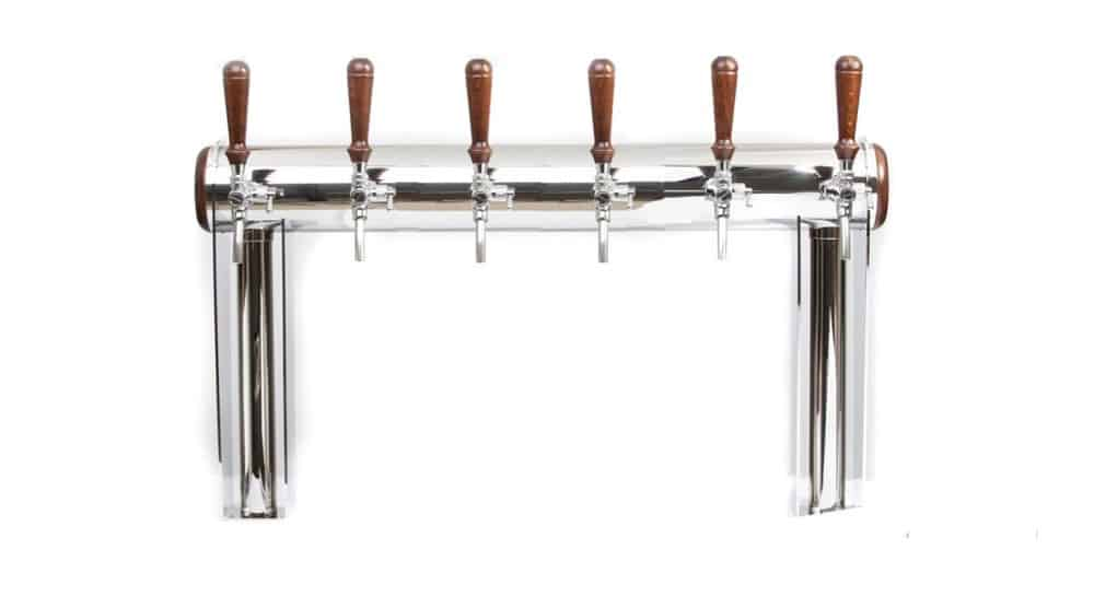 """BDT-GT6A : Beverage dispense tower """"Beer Gate"""" with 6pcs of the Aurora beverage taps"""