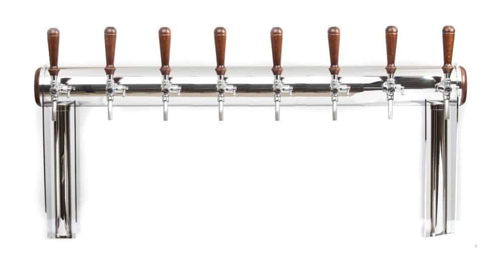 """Beverage dispense tower """"Beer Gate"""" with 8pcs of the Aurora beverage taps"""