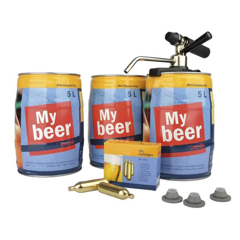 KEG-5LA-PSK : Mini keg starter-kit with the Party Star Deluxe CO2 dispenser