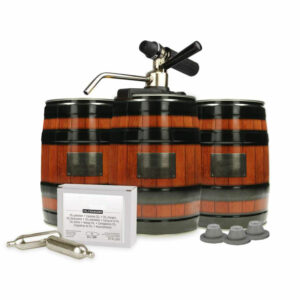 KEG-5LA-PSK : Mini keg starter-kit with the Party Star Deluxe CO2 dispenser