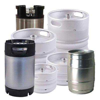 Beer kegs, barrels