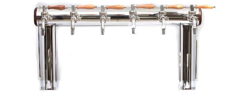 "BDT-GT6N : Beverage dispense tower ""Beer Gate"" with 6pcs of the Nostalgia beverage taps"