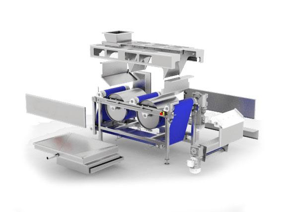 FBP-900-MG : Fruit belt press 900 kg/hour - inside view