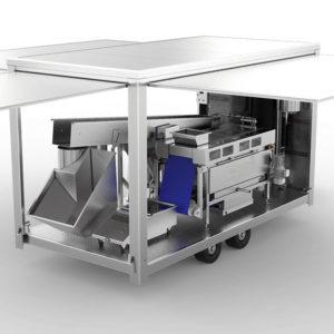 Mobile fruit processing unit