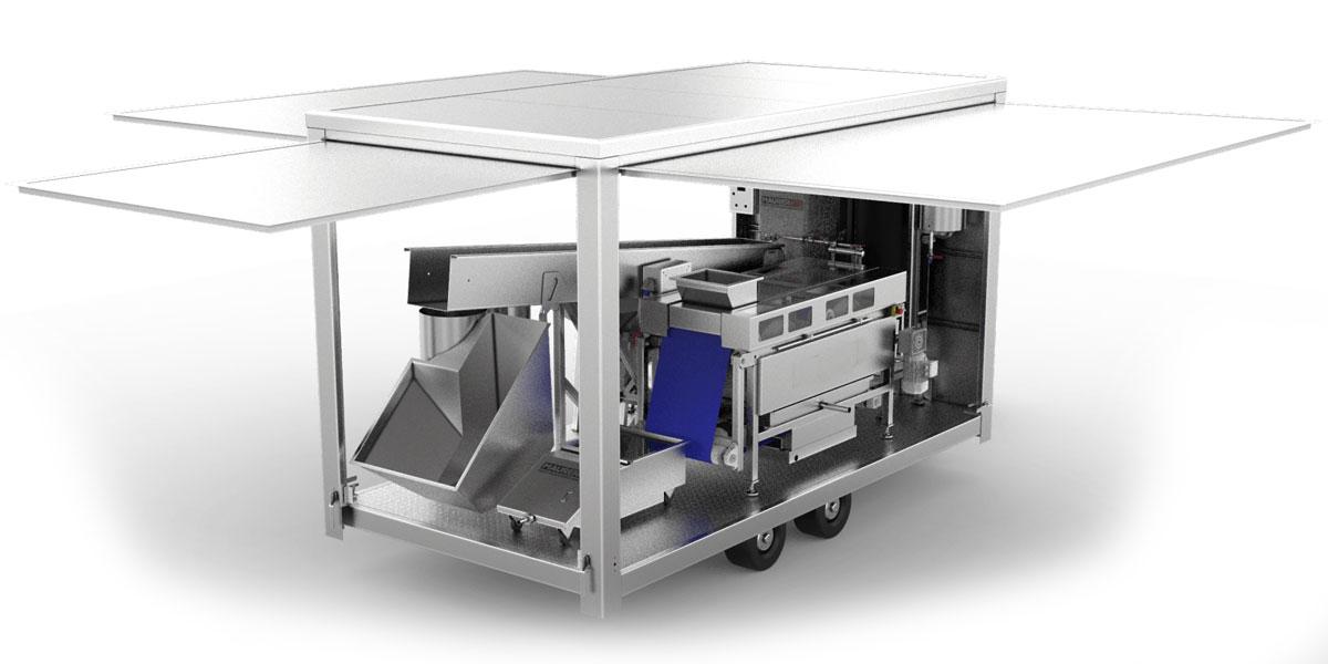 Mobile fruit processing units