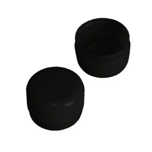 PET bottle screw caps - black