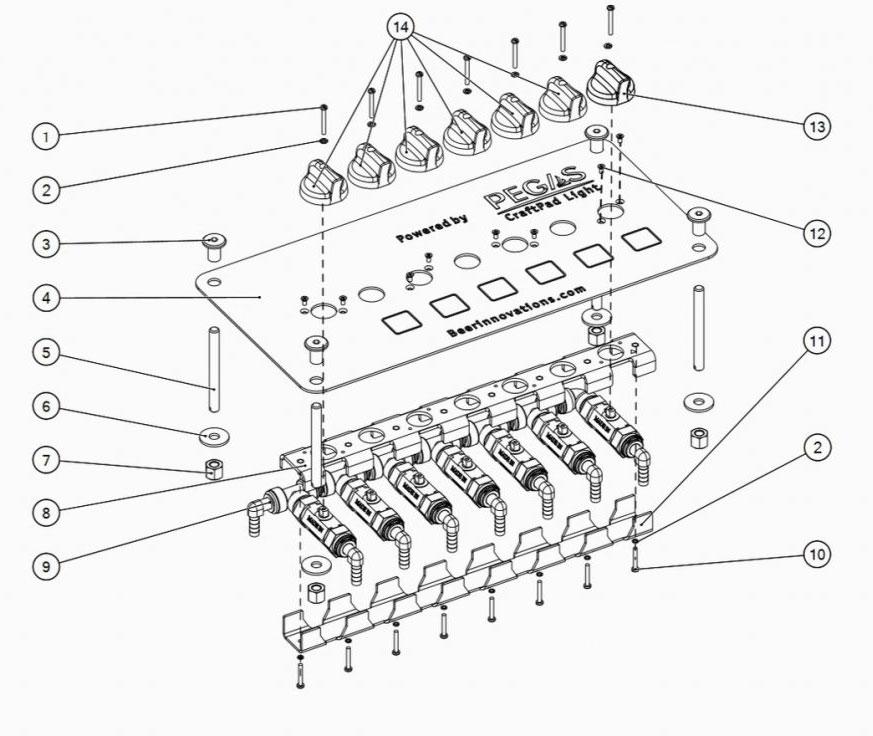 Pegas CraftPad Light - spare parts
