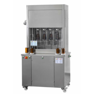 BFSA-MB44 : Semi-automatic rinsing and filling machine for bottles (up to 400 bph)
