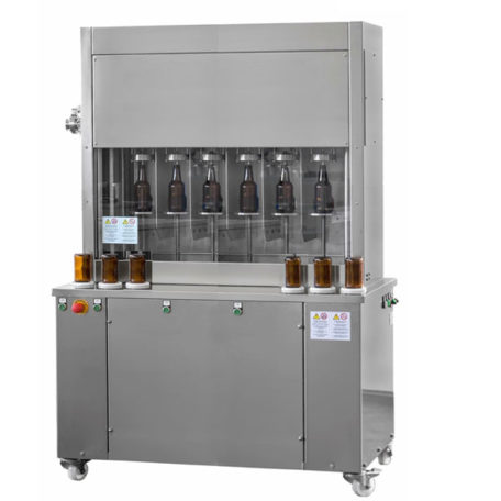 BFSA-MB660 : Semi-automatic rinsing and filling machine for bottles (up to 600 bph)