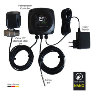 NANOFIX : Single tank temperature controller – full set with thermo sensor and regulation valve