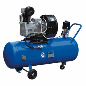 ACO-18-150B : Oil-free air compressor 18m3/hour with air tank 150L and basic filter 5µm