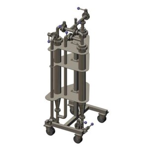 CMF3-300 : Candle mechanic beverage filter with 3 candles and capacity 300 L/h