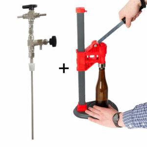 BFMP-1 Set for manual filling beverages into bottles : counter pressure filler + manual capping unit