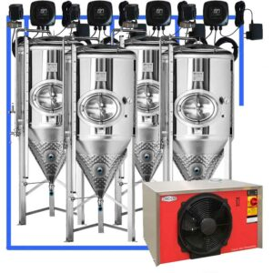 CFSCT1-4xCCT1000SHP3 : Complete fermentation set with 4xCCT-SHP3 1200 liters
