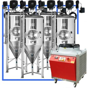 CFSCT1-4xCCT3000SHP3 : Complete fermentation set with 4xCCT-SHP3 3300 liters
