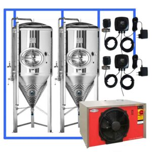 CFSCT1-2xCCT2000SHP3 : Complete fermentation set with 2xCCT-SHP3 2400 liters