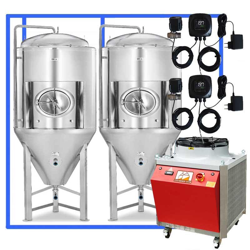 CFSCT1 2xCCT3000SHP3 INSULATED - CFSCT1-2xCCT3000SHP3 : Complete fermentation set with 2xCCT-SHP3 3300 liters - ct1cct-shp-cfs, cfs1c-cct-1000, ot1z-cct3000c, bm1000fs