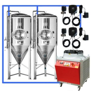 CFSCT1-2xCCT3000SHP3 : Complete fermentation set with 2xCCT-SHP3 3300 liters