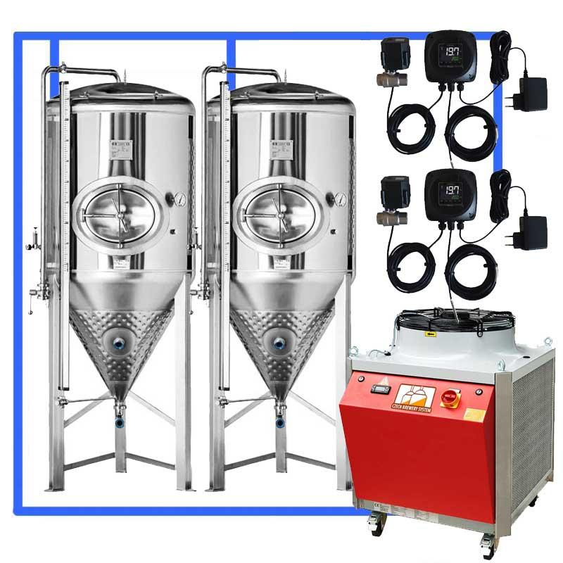 CFSCT1 2xCCT3000SHP3 NONINSULATED - CFSCT1-2xCCT3000SHP3 : Complete fermentation set with 2xCCT-SHP3 3300 liters - ct1cct-shp-cfs, cfs1c-cct-1000, ot1z-cct3000c, bm1000fs