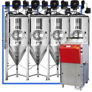 CFSCT1-4xCCT4000SHP3 : Complete fermentation set with 4xCCT-SHP3 5500 liters