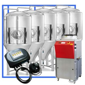 CFSCT1-5xCCT4000SHP3ATC : Complete fermentation set with 5xCCT-SHP3 5500 liters and automatic temperature control