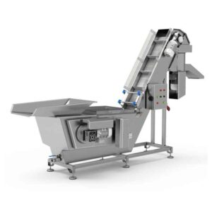 FWBC-3000-MG : Fruit washing and crushing machine with brushes 3000kg/hour