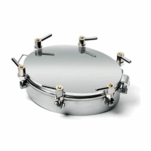 ROM-6023H10 Stainless steel oval manhole 4.0 bar / 412×315 mm / AISI 304