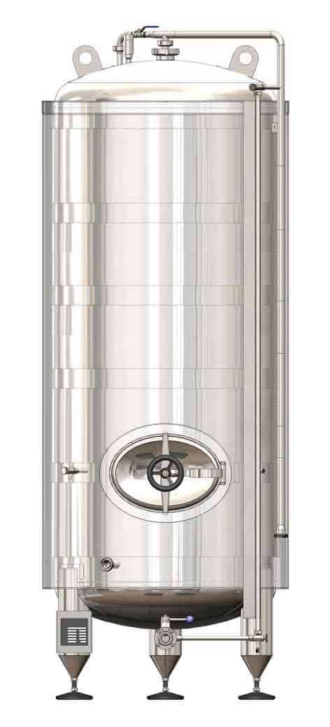 MBTVI-24000C Pressure cylindrical tank to maturation of beer/cider – vertical, insulated 32000/34900L