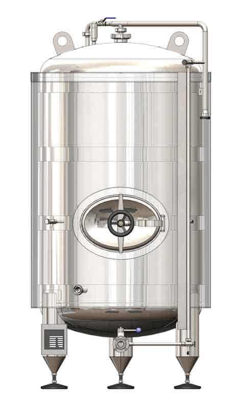 BBTVI 800 01 - BBTVI-12000C Cylindrical pressure tank for storage and final conditioning of carbonated beverage before bottling, vertical, insulated, 12000/13468L, 3.0bar - vertical-insulated-bright-beer-tanks, bright-beer-tanks