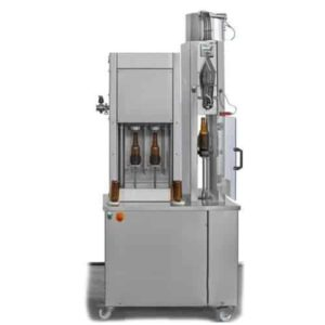 BFSA-MB221 : Semi-automatic rinsing, filling and capping machine for bottles (up to 200 bph)