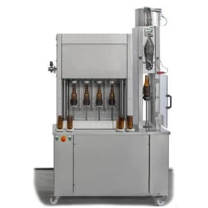 BFSA-MB441 : Semi-automatic rinsing, filling and capping machine for bottles (up to 400 bph)