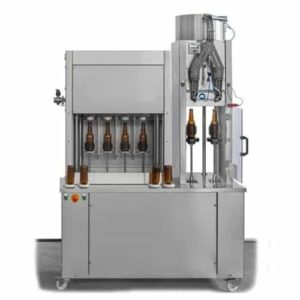 BFSA-MB442 : Semi-automatic rinsing, filling and capping machine for bottles (up to 400 bph)