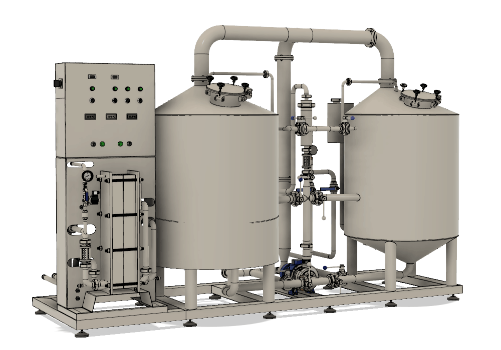 BREWORX LITE-ECO brewhouse - the wort brew machine with compact simplified design