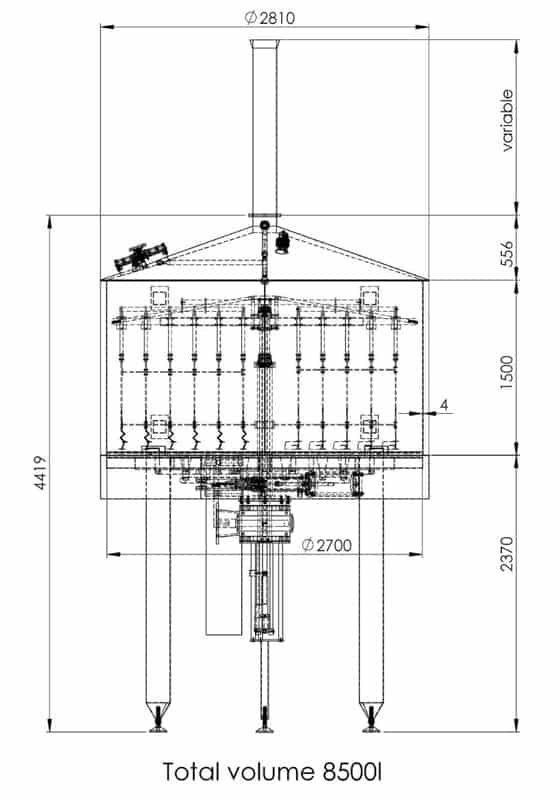 BH BWOP 6000 lautering tank 03 dim - BREWORX OPPIDUM 6000 : Wort brew machine - the brewhouse - bop, bwm-bop